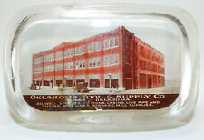 Early glass paperweight from Oklahoma Tool & Supply Co. in Tulsa, Oklahoma!