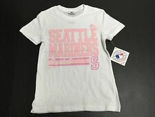 Seattle Mariners Official Majestic Fan Fashion MLB Youth Girls T-Shirt New