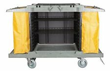"""Large Hotel Cart Housekeeping Room Service Cart H 39"""" x L 60"""" X W 21"""" AF08159"""