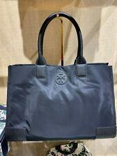 NWT Authentic TORY BURCH Ella Black Nylon Large Shoulder $195 Bag Tote