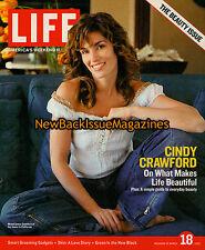 Life America's Weekend Magazine 3/05,Cindy Crawford,NEW
