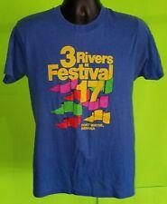 Vtg 1985 80s Three 3 Rivers Festival Shirt - Ft. Wayne Indiana Screen Stars - L