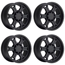 "Set 4 16"" Vision 372 Raptor Black Wheels 16x8 5x135 0mm Ford F150 5 Lug Rims"