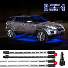 LED Car Interior Seat Undercar Trunk Underglow Neon Accent Light 2 zone BLUE