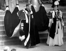 1948 King George VI and Queen Elizabeth in full regalia Windsor OLD PHOTO