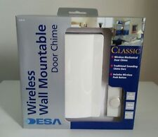 Desa Wireless Wall Mountable Door Bell Chime Traditional White FREE POSTAGE