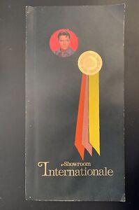Original 1969 Elvis International Las Vegas Menu / Not Hilton / From Memphis
