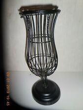 """New listing Black Metal Vase Shaped Cork Holder 12 3/4"""""""