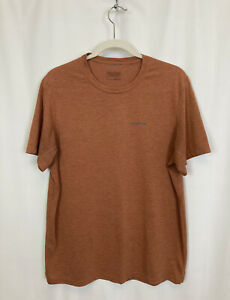 Patagonia Men's Short Sleeve T-Shirt Basic Size Large Red/Rust Knit Outdoor GUC