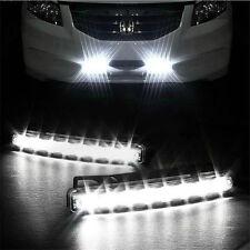 Car Light 8LED DRL Fog Driving Daylight Daytime Running LED White Head Lamp