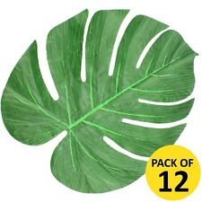 PACK OF 12 30CM HAWAIIAN LUAU TROPICAL JUNGLE PALM LEAVES LEAF PARTY DECORATION