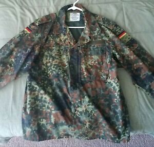 German Bundesweher Flecktarn Camo Field Shirt (L - Gr.Nr. 4) Military Surplus