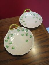 """BELLEEK SHELL DISHES, 5 1/2"""", 4th Mark 1946-1955 - First Green Mark, 1940s [*a12"""