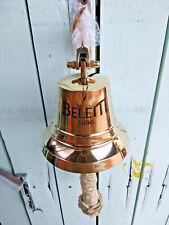 Cloche murale Belem en laiton massif pour entrée de la maison,bateau,diam:12,3