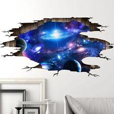 3d Galaxy cielo estrellado Paisaje 3d Vinilos Adhesivos de pared