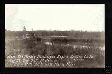 Itasca Minnesota c1906 RPPC Mississippi Twig Bridge MN