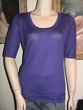 NWT Hayden concord purple cashmere tunic sweater L $295