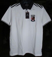 New NWT Byford Derby Union Horse Short Sleeve White Polo Shirt 100% Cotton Sz M