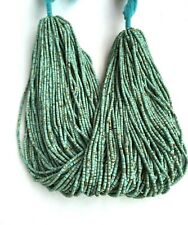 20 Strand of Afghan Natural Tiny Seed Beads Turquoise 1-2mm 13 inches Jewelry