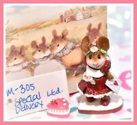 ❤️Wee Forest Folk Special Delivery M-305 LIMITED Glitter Red Valentines Heart❤️