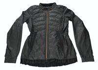 Lululemon Spring Fling Jacket Black Puffy Windbreaker Animal Swirl Embossed 6