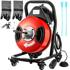 New Listing50x12 Sewer Snake Drill Drain Auger Cleaner Electric Drain Cleaning Machine