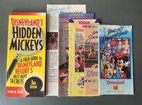 VINTAGE LOT OF DISNEYLAND MAPS BROCHURES SOUVENIR GUIDES 80s HIDDEN MICKEYS BOOK