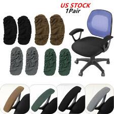 1 Pair Washable Office Chair Arm Covers Detachable Elastic Armrest Protector USA