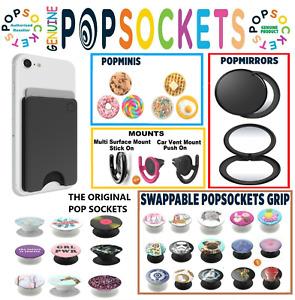 Genuine Popsockets Grip Universal Mobile Tablet Holder Stand Mount Pop socket