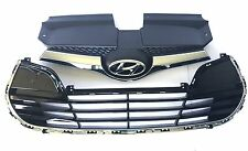 Veloster 2012-2017 Front Grille Upper & Lower Grille Genuine Hyundai With Chrome