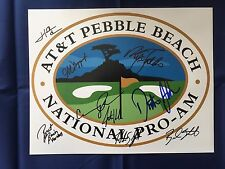 AT&T Pebble Beach Pro Am Golf Signed 11x14 Photo Johnson Rice +7