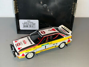 RALLY 1/43 TROFEU HB AUDI TEAM QUATTRO GROUP B MIKKOLA PORTUGAL 1984 LIMITED