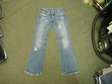 """Diesel Cherone Jeans Waist 27"""" Leg 32"""" Faded Medium Blue Ladies Jeans"""