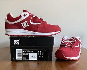 DC Shoes Kalis Lite Red/Red/White Men's Size 11.5