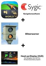 Sygic Navi-Software World+Blitzer+HUD für Smartphone, Navi, als Softwaredownload