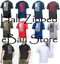Under Armour UA Freedom Flag T-Shirt 1299257 S-3XL Short Sleeve