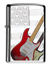 Zippo Fender Guitar Chrome High polished 60000084 Collection 2015