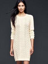 Gap Snow Cap Cable Knit Sweater Dress XL