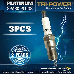 3 Tri-Power Platinum Spark Plugs for Daihatsu Charade Handivan Mira 3Cyl SOHC
