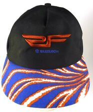 Suzuki Vintage Adjustable Snapback Cap Hat Black Blue Red White