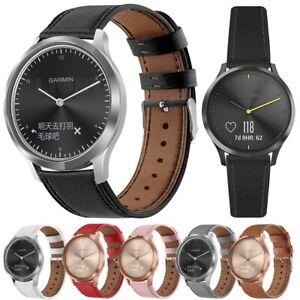 Leather Watch Band Strap For Garmin Vivoactive 3 /Vivomove HR/Forerunner 245 645