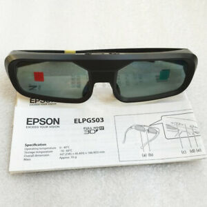 EPSON 3D Stunning Viewing Glasses ELPGS03 For TW5200/TW9200/TW6200/TW8200