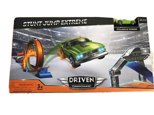 Car Race Track Toy Driven Stunt Jump Extreme Racing Loop Pull Back Power 16 Pcs