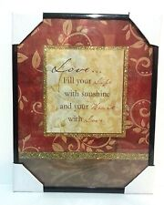Love, Life, Heart  Inspirational Wall Picture, Wall Plaque (NEW)