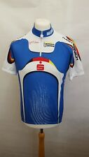 BIO RACER CYCLING JERSEY TOP SIZE 5 SHORT SLEEVE - BLUE WHITE