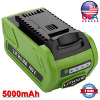 29472 40V 5.0Ah Lithium For Greenworks G-MAX Battery 29462 29252 20202 Cordless