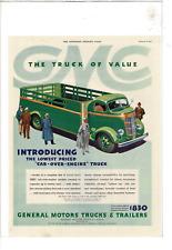 JAN 1937 SATURDAY EVENING POST GMC CAB-OVER-ENGINE TRUCKS AD PRINT D357