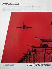 1989 PUB CFM INTERNATIONAL SNECMA GENERAL ELECTRIC CFM56 ENGINE AIRLINER AD