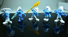 "McDonald Smurfs 2011- 3"" Figurines Lot of Five- Collectables"
