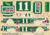 Monogram Revell 1:24 #11 Mountain DEW Stock Car Decal Sheet #6391UX